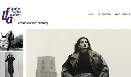 Leather fashion academy - Lfa - website met logo